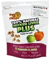 Pet 'N Shape - 100% Natural Chicken Liver Plus Treats For Cats Pumpkin & Apple - 0.75 oz.