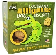 Delca Corp - Think! Dog Natural Louisiana Dog Biscuits Alligator - 16 oz.