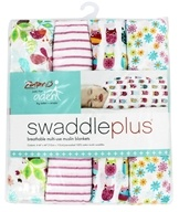 Aden + Anais - 100% Cotton Muslin SwaddlePlus Zutano Walk in the Park - 4 Pack