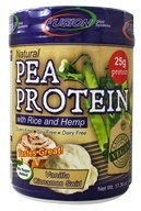 Fusion Diet Systems - Natural Pea Protein With Rice and Hemp Protein Vanilla Cinnamon Swirl - 16 oz.