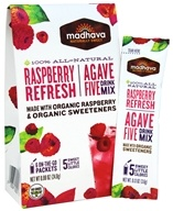 All Natural Agave Five Drink Mix Raspberry Refresh - 6 x 0.88 oz. Packets