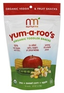 Yum-A-Roo's Organic Dry Toddler Snacks Pea, Sweet Corn & Apple