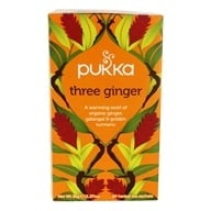 Pukka Herbs - Organic Herbal Tea Three Ginger - 20 Tea Bags