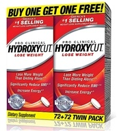 Hydroxycut Pro Clinical Weight Loss Supplement Twin Pack