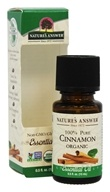 Nature's Answer - Organic  Essential Oil 100% Pure Cinnamon - 0.5 oz.