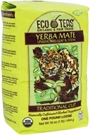 Eco Teas - Yerba Mate Unsmoked Leaf & Stem Traditional Cut Loose Tea - 16 oz.