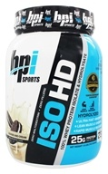 BPI Sports - ISO-HD 100% Whey Protein Isolate & Hydrolysate Cookies and Cream - 1.6 lbs.
