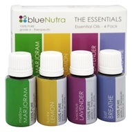 BlueNutra - 100% Pure Essential Oil The Essentials - 4 Pack