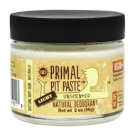 Primal Pit Paste - Natural Deodorant Light Unscented - 2 oz.