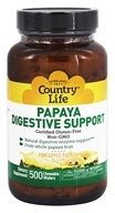 Country Life - Papaya Digestive Support Pineapple Papaya - 500 Chewable Wafers /LUCKY DEAL