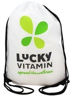 LuckyVitamin Gear - Spread the Wellness Cinch Bag White