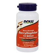 NOW Foods - Extra Strength BerryDophilus 10 Billion - 50 Chewable Tablets