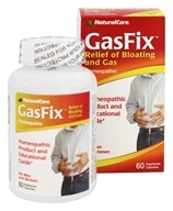 NaturalCare - GasFix Homeopathic - 60 Vegetarian Capsules