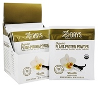 Organic Plant-Protein Powder Vanilla - 12 x 0.95 oz. Packets