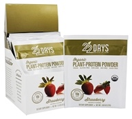 Organic Plant-Protein Powder Strawberry - 12 x 0.95 oz. Packets
