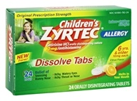 Zyrtec - Children's Allergy 24 Hour Antihistamine Citrus Flavor - 24 Dissolve Tabs