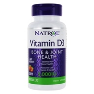 Natrol - Vitamin D3 Fast Dissolve Strawberry 5000 IU - 90 Tablets