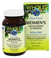 Whole Earth & Sea - Pure Food Women's Multivitamin & Mineral - 60 Tablets