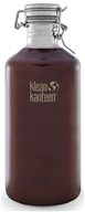 Klean Kanteen - Stainless Steel Water Bottle Wide with Stainless Swing Lock Cap Dark Amber - 64 oz.