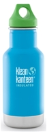 Stainless Steel Kid Kanteen Water Bottle with Green Loop Cap