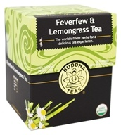 100% Organic Herbal Feverfew & Lemongrass Tea