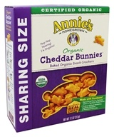 Organic Cheddar Bunnies Baked Snack Crackers