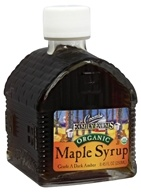 Organic Maple Syrup in Log Sugarhouse Glass Bottle