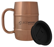 Eco Vessel - Double Barrel Insulated Stainless Steel Coffee and Beer Mug with Lid Copper - 17 oz.