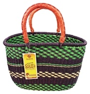 Handwoven Oval African Basket