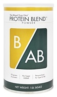 D'Adamo Personalized Nutrition - The Blood Type Diet Protein Blend Powder B/AB Unflavored - 1 lb.
