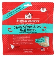 Freeze-Dried Dog Food Savory Salmon & Cod Meal Mixers