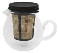 Rishi Tea - Glass Tea Pitcher with Infuser Basket - 400 ml.