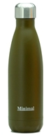 Minimal - Insulated Water Bottle Brown - 17 oz.