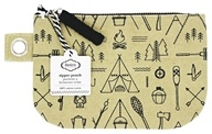 100% Cotton Small Zipper Pouch Adventure Awaits