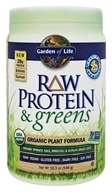 Garden of Life - Raw Protein & Greens Organic Plant Formula Real Raw Vanilla - 19.3 oz.