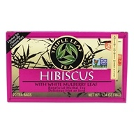 Triple Leaf Tea - Hibiscus with White Mulberry Leaf Herbal Tea - 20 Tea Bags