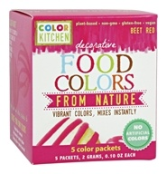 Decorative Food Colors From Nature Beet Red - 5 x 0.10 Color Packets
