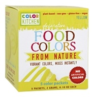 Decorative Food Colors From Nature Yellow - 5 x 0.10 Color Packets