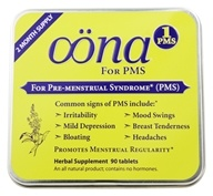 Oona - PMS 1 Pre-Menstrual Syndrome - 90 Tablets
