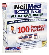 NeilMed Pharmaceuticals - Sinus Rinse All Natural Relief - 100 Premixed Packets