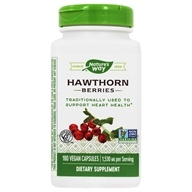 Nature's Way - Hawthorn Berries 510 mg. - 180 Vegetarian Capsules