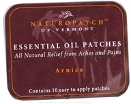 Natural Patches of Vermont - Soothing Aches & Pains Formula Essential Oil Body Patches Arnica - 10 Patch(es) Formerly Naturopatch