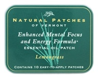 Enhanced Mental Focus & Energy Formula Essential Oil Body Patches