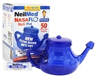 NasaFlo Neti Pot Clear Design with Pre-Mixed Packets