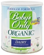 Organic Dairy Based Iron Fortified Toddler Formula
