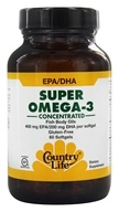 Super Omega-3 Concentrated Fish Body Oils 400 mg EPA/200 mg DHA
