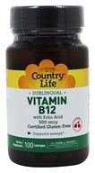 Vitamin B12 with Folic Acid Sublingual