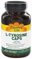 L-Tyrosine Caps Free-Form Amino Acid Supplement with B-6