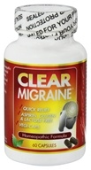 Clear Products - Clear Migraine Homeopathic/Herbal Formula with Corydalis - 60 Capsules