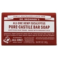 Dr. Bronners - Magic Pure-Castile Bar Soap Organic Eucalyptus - 5 oz.